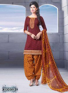 Brown Designer Salwar Suit