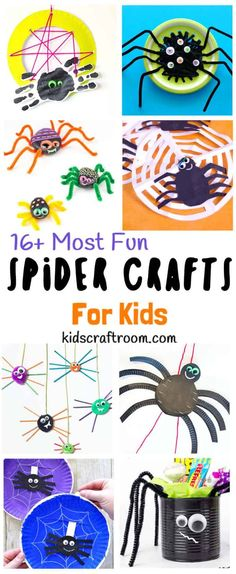 A fantastic collection of The Best Spider Crafts For Kids. Even if you're not normally a fan of real creepy crawlies these cute arachnids will have you smiling and wanting to make more! The cutest spider crafts for preschoolers on the web! Great as Halloween crafts. #kidscraftroom #spiders #spider #spidercrafts #spidercraftideas #spidercraftprojects #spideractivities #halloween #halloweencrafts #preschoolers #kidscrafts #kidscraft #craftsforkids