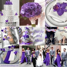 Purple and Silver Wedding Colors -- | #weddingcolors