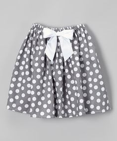 This Gray & White Dot Circle Skirt - Infant, Toddler & Girls by Cozy Bug is perfect! #zulilyfinds