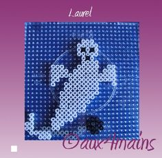 Ghost Halloween hama perler by aux4mains.
