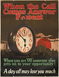 When the Call Comes Answer Present (Mather Work Incentive), 1925