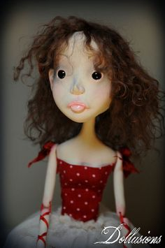 OOAK Ribbon Jointed Art Doll Llana by SweetDollusions on Etsy, $230.00