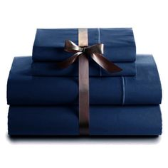 600 Thread Count 100 Cotton Deep Pocket Sheet Set Twin Size Navy -- Check this awesome product by going to the link at the image.