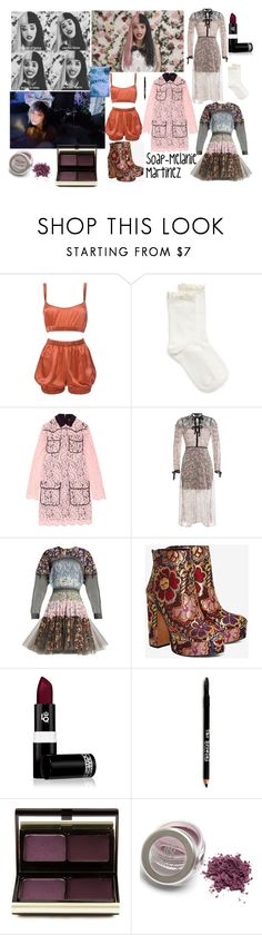 """""""Soap-Melanie Martinez inspired look"""" by crybabycutie ❤ liked on Polyvore featuring beauty, Roses Are Red, Hue, MSGM, The Kooples, Natasha Zinko, Shellys, Lipstick Queen, Lord & Taylor and Kevyn Aucoin"""