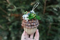 Handmade original decoration for you christmas tree.   Handmade Christmas decoration on the Christmas tree or to decorate the house. Made of various natural and arranging decorations.  The...