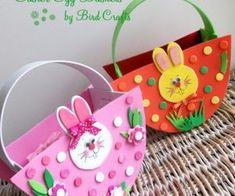 Canastas de conejos para imprimir y armar