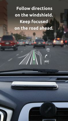 HUD (Head-up display) iPhone app for everyday commute #hud #navigation #gps