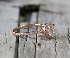 1.02 Cts. White Sapphire Diamond Engagement Ring in by Studio1040