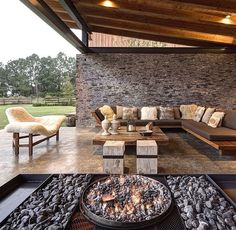 Image 12 of 17 from gallery of VR Tapalpa House & Elías Rizo Arquitectos. Photograph by Marcos García Outdoor Living Rooms, Hacienda Style, Home Deco, Home And Living, Future House, Interior Architecture, Interior Design, Luxury Homes, Outdoor Furniture Sets