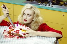 """Home Works"" Caroline Trentini by Miles Aldridge for Vogue Italia"