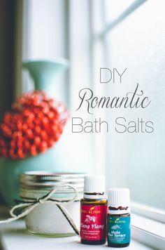 Easy DIY Romantic Bath Salts using Young Living Essential Oils