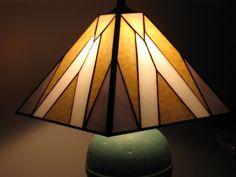 White on white lampshade