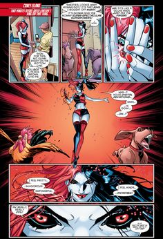harley quinn with a red:black power ring 1