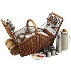 Encantador set de canasta para picnic y matener todos los utensillos en órden.