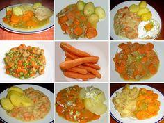 Dušená mrkev a dušená mrkev s vepřovým masem a brambory, recepty. Dušená mrkev, chutě se mění. • Kde jedí muži dušenou mrkev? • Dušená mrkev s masem, a nebo vepřové s mrkví? • Hrášek mrkvi svědčí i sluší. • Jak připravit dušenou mrkev na osmero způsobů. • S čím mrkev nejlépe chutná? S bramborami. •