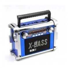 Radio Altavoz Diseño Retro Portátil de Batería Recargable Tarjetas Mp3
