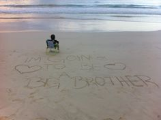 Bellows beach Hawaii big brother birth announcement