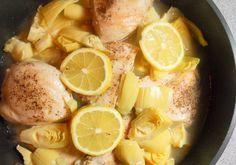 Skillet Lemon Chicken I Chicken Broth, Lemon Zest, Lemon, Cornstarch, Sugar, EVOO + Artichoke Hearts.