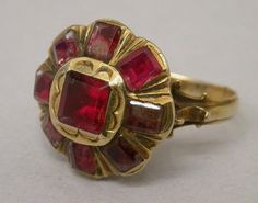 18th century ring from Italy. To wear with the beautiful 18th century Garnet earrings below. R McN