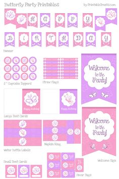 Free Butterfly Party Printables