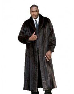 Mens Golden Island Full Length Feathered Fox Fur Coat | fur coats