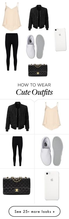 """""""Cute / Adorable Outfit """" by lsantana13 on Polyvore featuring Alice + Olivia, LE3NO, Boohoo, Vans and Chanel"""