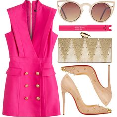 street style by sisaez on Polyvore featuring Balmain, Christian Louboutin, KOTUR and TONYMOLY