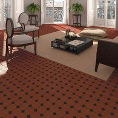 Inspired by original Victorian tile patterns, the Barnet Victorian Tile collection captures the exquisite styling of the period -Italian Tile & Stone Dublin Victorian Tiles, Italian Tiles, Encaustic Tile, Style Tile, Tile Patterns, Bathroom Flooring, Porcelain Tile, All The Colors, Patio
