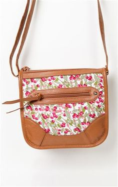 Deb Shops #floral print cross over #handbag $23.31