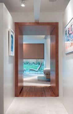 Wood Portal. Portal Design, Corridor, Building Design, Decoration, New Homes, Design Inspiration, House Design, Interior Design, Wood Tick