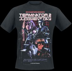 a8383787 Terminator 2 - Poster T-Shirt black Style Round Style tshirt Tees Custom  Jersey t shirt