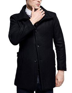 Slim Sichyuan Fit Fashion Doppelreiher Herren Mantel Herren ED29HI
