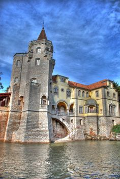 Castle in Cascais, Portugal. Places Around The World, Oh The Places You'll Go, Places To Travel, Places To Visit, Around The Worlds, Beautiful Castles, Beautiful Buildings, Beautiful Places, Cascais Portugal
