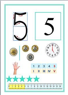 Monografia liczb | Kreatywny Świat Edukacji Math Games, Preschool Activities, School Frame, Montessori Math, Teaching Math, Classroom Decor, Kids Learning, Homeschool, 1