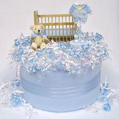 Unique baby shower centerpiece for a baby boy
