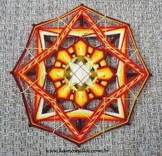 Mandala bordada 8 pontas - Kamomilla Mandalas