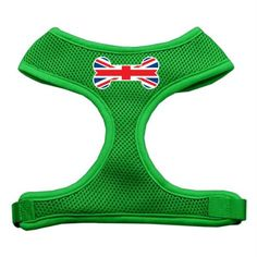 Mirage Pet Products Bone Flag UK Screen Print Soft Mesh Dog Harnesses Small Emerald Green >>> Read more reviews of the product by visiting the link on the image.Note:It is affiliate link to Amazon.