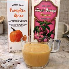 Trader Joe's | Non-Dairy Almond Beverage Unsweetened | 1.89l $2.99 #traderjoes #almondmilk #almond  Trader Joe's | Pumpkin Spice Almond Beverage | 946 ml. $1.79 #traderjoes #pumpkinspice #almondmilk #psl