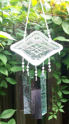 more vintage glass wind chimes from Cathy!