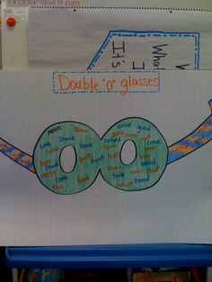 "Double ""o"" glasses--then have Students make their own to wear!"