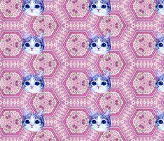 fluffy kawaii fabric by spiffydame on Spoonflower - custom fabric