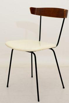 Mid Century Modern Paul McCobb Bentwood Iron Chair