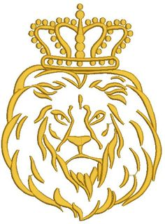 lion in the crown  Machine Embroidery Design by embroiderypapatedy