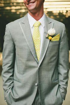Yellow and Grey is a hit!: #wedding #tie #ideas Mens Wedding Ties, Dream Wedding, Wedding Day, Polka Dot Tie, Yellow Ties, Suits You, Groomsmen, Suit Jacket, Wedding Inspiration