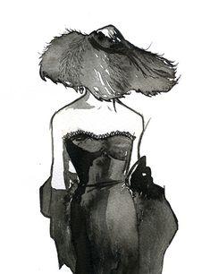 Aquarell ModeIllustration Dior Dame / JessicaIllustration