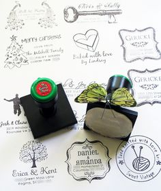 Custom Rubber Stamp: Your Monogram / Initial. Personalize Return Address Stamp, Wedding Stamp, We've Moved, Housewarming Gifts (2310). $18.00, via Etsy.