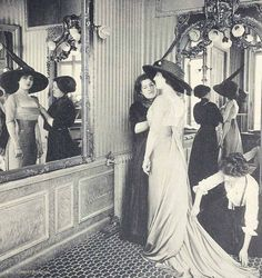 """ladylabsinthe: """" House-of-Paquin—a-fitting—Paris-Fashion-1910 """""""