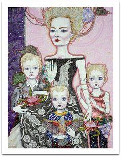 Del Kathryn Barton: Mother (a portrait of Cate):: Archibald Prize Art Gallery NSW. This is a self portrait by a contemporary Australian artist. Contemporary Australian Artists, Australian Painting, Anselm Kiefer, Richard Burlet, Del Kathryn Barton, Neo Rauch, Most Popular Artists, Identity Art, Gustav Klimt