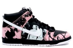 Nike Dunk High Pro SB - Unkle Dunkle Futura (black / white / pink)